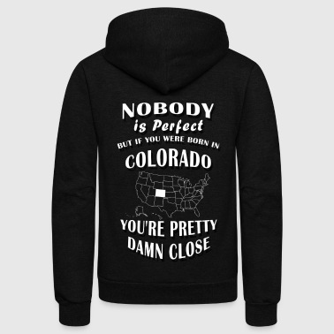 BORN IN COLORADO - Unisex Fleece Zip Hoodie