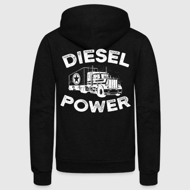 Diesel Power with big Truck - Unisex Fleece Zip Hoodie