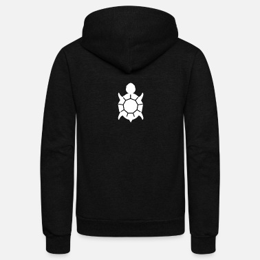 Kids White Turtle - Unisex Fleece Zip Hoodie