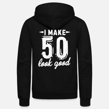 Birthday 50th Birthday - Unisex Fleece Zip Hoodie