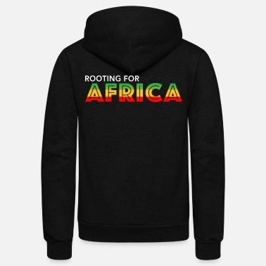 Africa ROOTING FOR AFRICA - Unisex Fleece Zip Hoodie