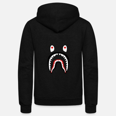 Bathing bape shark - Unisex Fleece Zip Hoodie
