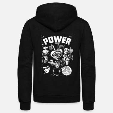 Black Power Power - Unisex Fleece Zip Hoodie