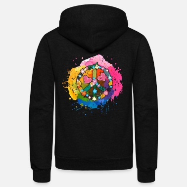 Hippie Peace Hippie - Unisex Fleece Zip Hoodie
