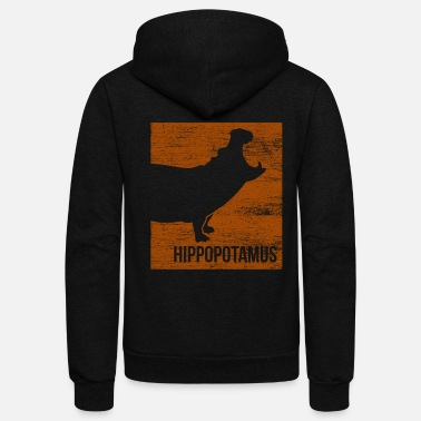 Threatend Species Hippo Endangered Species - Unisex Fleece Zip Hoodie