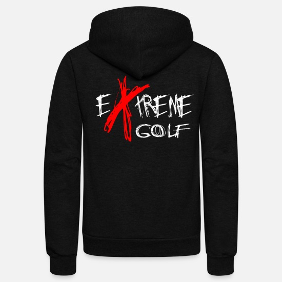 Golf Hoodies & Sweatshirts - Golf - Unisex Fleece Zip Hoodie black