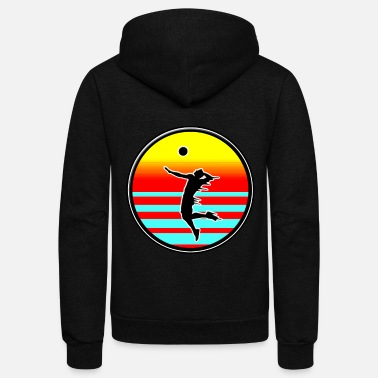 Beach Volleyball Volleyball Style volleyball on the beach - Unisex Fleece Zip Hoodie