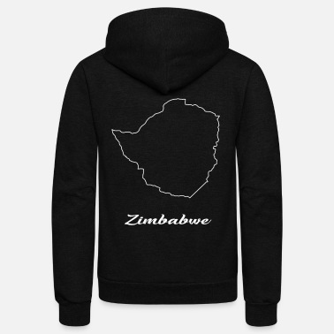 Map Zimbabwe map map - Unisex Fleece Zip Hoodie