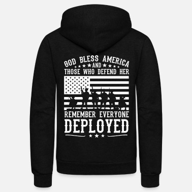 Who RED Friday God Bless America And Those Who Defend Her Soldier Flag wht - Unisex Fleece Zip Hoodie