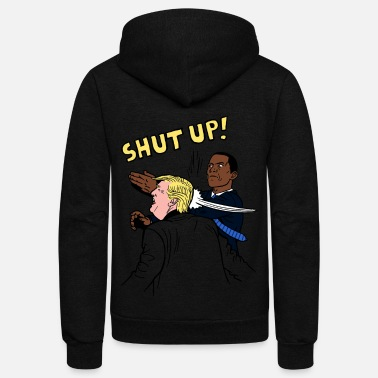 Obama Shut up Obama punch trump shirt - Unisex Fleece Zip Hoodie