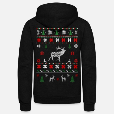 Ugly Christmas Deer Hunting Ugly Christmas - Unisex Fleece Zip Hoodie