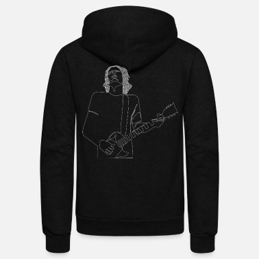 Jeff Buckley Jeff Buckley Onelinedrawing MWB/Discography (W) - Unisex Fleece Zip Hoodie