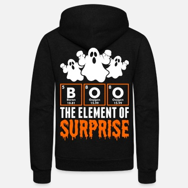 Halloween The Element Of Surprise Halloween - Unisex Fleece Zip Hoodie
