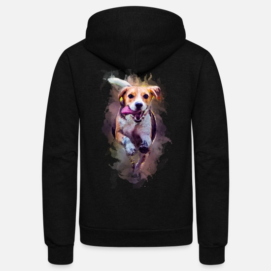 Bambino Hoodies & Sweatshirts - dog - Unisex Fleece Zip Hoodie black