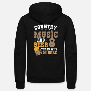 Beer 90s Country Music And Beer Gift - Unisex Fleece Zip Hoodie