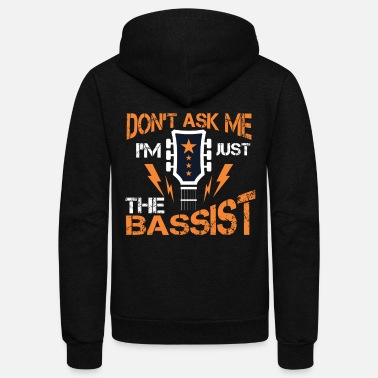 Bass Guitar Guitarist Bassist Music Musician - Unisex Fleece Zip Hoodie