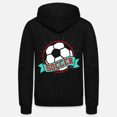 Soccer Ball Soccer ball - Unisex Fleece Zip Hoodie