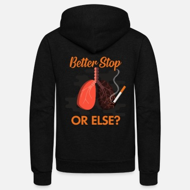 No Smoking Stop Smoking, No Smoking, Smoker - Unisex Fleece Zip Hoodie