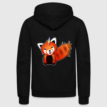 FOXICORN fox unicorn fantasy animal cute kids birthday gift - Unisex Fleece Zip Hoodie