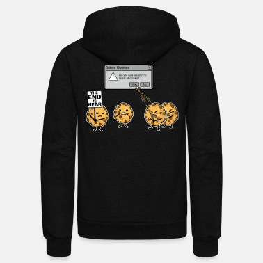 Funny Deleting Cookies Is A Serious Threat - Unisex Fleece Zip Hoodie