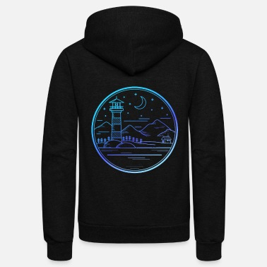 Neon Neon Lighthouse Designs for all Lighthouse friends - Unisex Fleece Zip Hoodie
