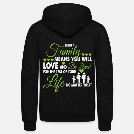 Love Hoodies & Sweatshirts - Being A Family T Shirt - Unisex Fleece Zip Hoodie black