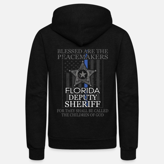 Police Hoodies & Sweatshirts - Florida Sheriff Deputy Prayer Sheriff Deputy Gifts - Unisex Fleece Zip Hoodie black