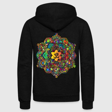 Colorful Om Mandala - Unisex Fleece Zip Hoodie