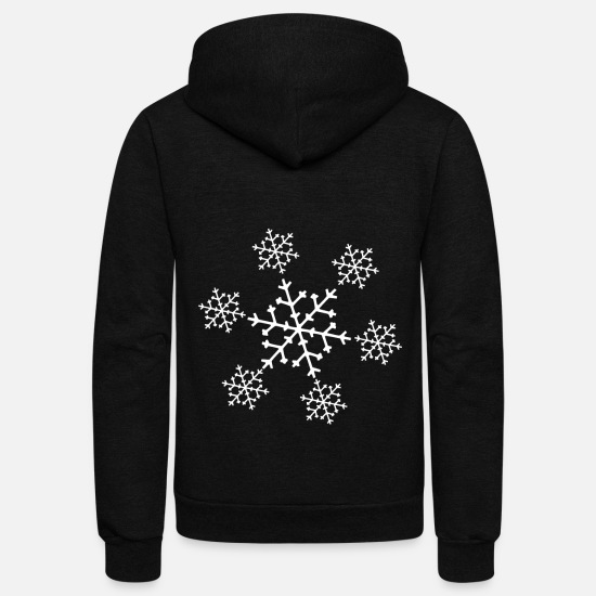 Winter Hoodies & Sweatshirts - Snowflake Winter - Unisex Fleece Zip Hoodie black