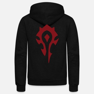 World WoW Horde Symbol - Unisex Fleece Zip Hoodie