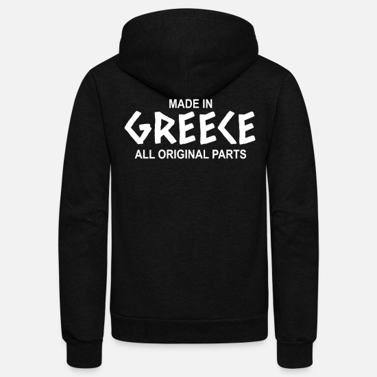 Gift Idea Hoodies & Sweatshirts - greece - Unisex Fleece Zip Hoodie black