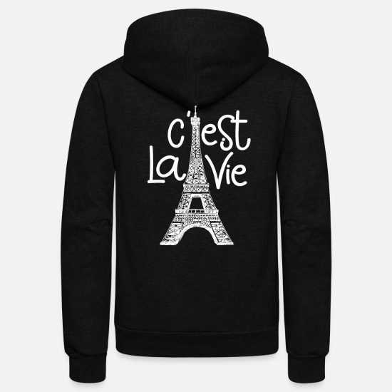 French Hoodies & Sweatshirts - french france - Unisex Fleece Zip Hoodie black