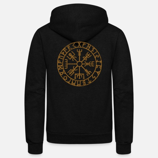 Viking Hoodies & Sweatshirts - Vikings Scandinavian Warriors Gift Idea - Unisex Fleece Zip Hoodie black