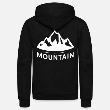 Mountains Mountain mountain mountains - Unisex Fleece Zip Hoodie