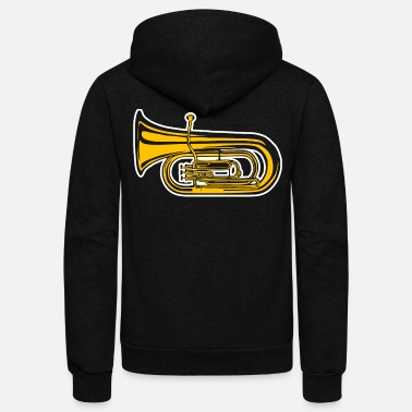 Musical Instrument Music Instrument Tuba Tshirt - Unisex Fleece Zip Hoodie