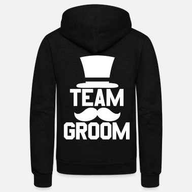 Bachelor Party Team Groom - Bachelor Stag Night Party Alcohol - Unisex Fleece Zip Hoodie