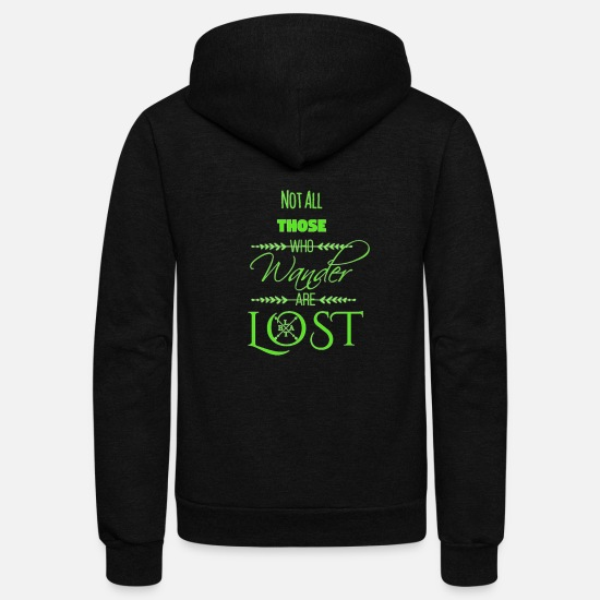 Trailer Hoodies & Sweatshirts - LTBA Wander - Unisex Fleece Zip Hoodie black