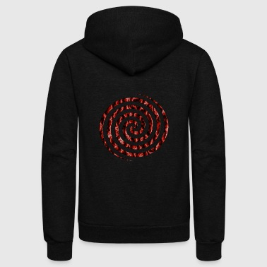 Crimson Vortex - Unisex Fleece Zip Hoodie