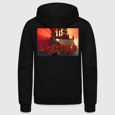 Dracula's castle at Dusk with Setting Sun Beam - Unisex Fleece Zip Hoodie