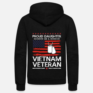 Proud Proud Daughter of a Vietnam Veteran T-Shirt - Unisex Fleece Zip Hoodie