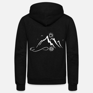 Hiking Mountain, hiking, mountaineering, hiking - Unisex Fleece Zip Hoodie