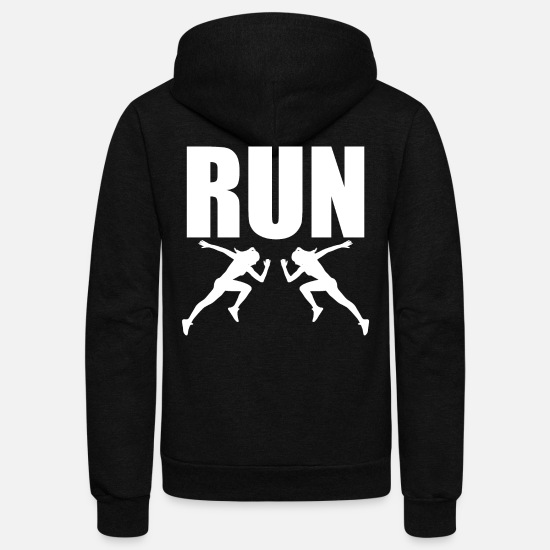 Running Hoodies & Sweatshirts - Running Run Runner - Unisex Fleece Zip Hoodie black