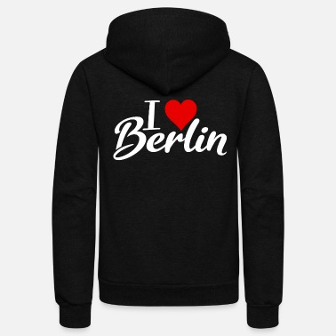 Berlin I Love Berlin - Unisex Fleece Zip Hoodie