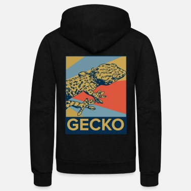 Lizard Gecko Animal Reptile Lizard Salamander Pet Gift - Unisex Fleece Zip Hoodie