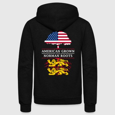 American Grown with Normandy Roots - Unisex Fleece Zip Hoodie