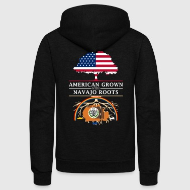 American Grown with Navajo Roots - Unisex Fleece Zip Hoodie