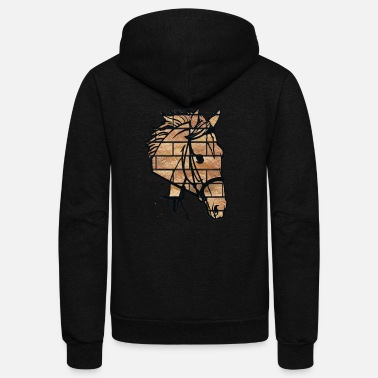 Animals Horses horse - animal horse - shirt - Unisex Fleece Zip Hoodie