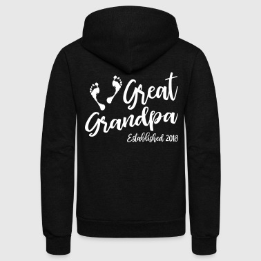 Great Grandpa Established 2018 - Unisex Fleece Zip Hoodie