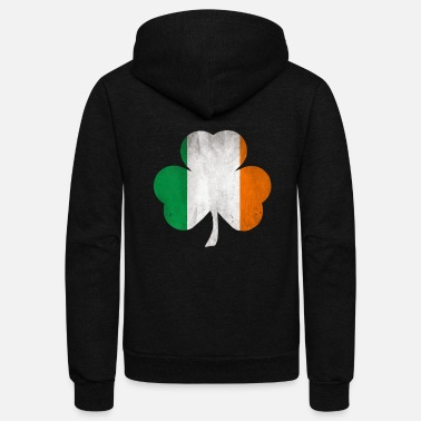 Shamrock Ireland Shamrock Irish Flag Clover ST. Patrick - Unisex Fleece Zip Hoodie