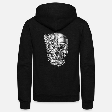 Wicked Tattoo Skull - Unisex Fleece Zip Hoodie